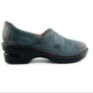 Born Blue/Grey Closed Back Clog